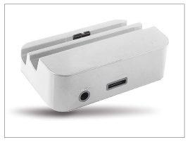 Samsung N9000 Galaxy Note 3 asztali töltő + audió be/kimenet - fehér