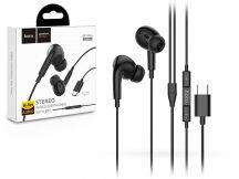 HOCO sztereó fülhallgató USB Type-C csatlakozóval, mikrofonnal - HOCO M1 Pro Original Series Wired Earphones with Mic - fekete