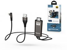 HOCO Lightning + USB + HDMI kábel 2 m-es vezetékkel - HOCO UA14 Lightning to HDMI Audio/Video HD Cable Adapter - fekete