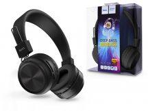 HOCO Wireless Bluetooth sztereó fejhallgató beépített mikrofonnal - HOCO W25 Promise Deep Bass Wireless - fekete