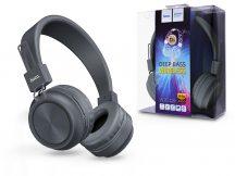 HOCO Wireless Bluetooth sztereó fejhallgató beépített mikrofonnal - HOCO W25 Promise Deep Bass Wireless - szürke