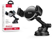 Univerzális műszerfalra/szélvédőre helyezhető PDA/GSM autós tartó - HOCO S12 Lite Car Holder - fekete