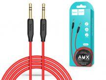 3,5 - 3,5 mm jack audio kábel 1 m-es vezetékkel - HOCO UPA11 Aux Audio Cable - fekete/piros