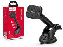 Univerzális műszerfalra/szélvédőre helyezhető mágneses PDA/GSM autós tartó - HOCO CA67 Super Magnetic Car Holder - fekete