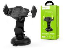 Univerzális műszerfalra/szélvédőre helyezhető PDA/GSM autós tartó - HOCO CA40 Car Holder - fekete