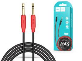 3,5 - 3,5 mm jack audio kábel 1 m-es vezetékkel - HOCO UPA11 Aux Audio Cable - piros/fekete