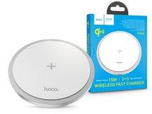 HOCO Qi univerzális vezeték nélküli töltő állomás - 15W - HOCO CW26 Wireless Fast Charger - fehér - Qi szabványos