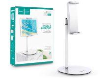 """HOCO univerzális asztali telefon/tablet tartó 4,7-10"""", méretű készülékhez - HOCO PH31 Metal Table Stand - fehér/ezüst"""