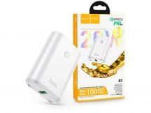 Univerzális hordozható, asztali akkumulátor töltő - HOCO Q3 Power Bank - USB+Type-C+PD3.0+QC3.0 - 10.000 mAh - fehér