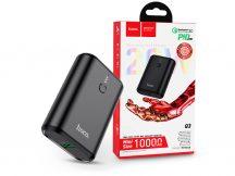 Univerzális hordozható, asztali akkumulátor töltő - HOCO Q3 Power Bank - USB+Type-C+PD3.0+QC3.0 - 10.000 mAh - fekete