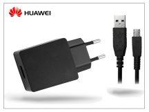 Huawei gyári USB hálózati töltő adapter + micro USB adatkábel - 5V/2A - HW-050200E3W + C02450768A black (ECO csomagolás)