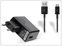 Huawei gyári USB hálózati töltő adapter + micro USB adatkábel - 5V/1A - HW-050100E1W black (ECO csomagolás)