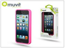 Apple iPhone 5/5S/SE védőkeret - Muvit i-Belt Bumper - pink