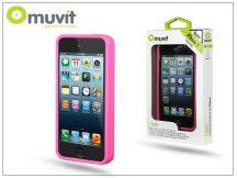 Apple iPhone 5/5S/SE védőkeret - Muvit i-Belt Bumper - pink
