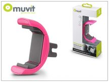 Muvit univerzális szellőzőrácsba illeszthető autós tartó max. 5,7&quot, méretű készülékhez - Muvit Universal Holder - pink