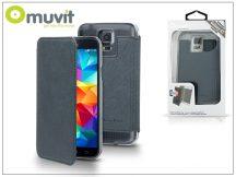 Samsung SM-G900 Galaxy S5 flipes tok - Muvit Crystal Folio - blue