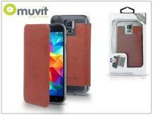 Samsung SM-G900 Galaxy S5 flipes tok - Muvit Crystal Folio - brown