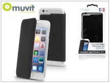 Apple iPhone 6 Plus/6S Plus hátlap - Muvit Crystal Folio - black