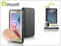 Samsung SM-G920 Galaxy S6 flipes tok - Muvit Window Folio - black