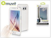 Samsung SM-G920 Galaxy S6 flipes tok - Muvit Window Folio - white