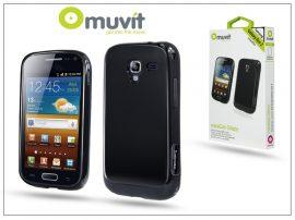 Samsung i8160 Galaxy Ace 2 hátlap - Muvit miniGel Glazy - black
