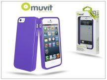 Apple iPhone 5/5S/SE hátlap - Muvit miniGel Glazy - lila