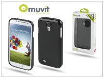 Samsung i9500 Galaxy S4 hátlap - Muvit miniGel - black