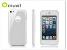Apple iPhone 5C hátlap - Muvit miniGel - white