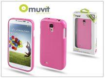 Samsung i9500 Galaxy S4 hátlap - Muvit miniGel - pink