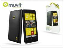 Nokia Lumia 520/525 hátlap - Muvit miniGel Glazy - black