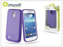 Samsung i9190 Galaxy S4 Mini hátlap - Muvit miniGel - lila