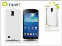 Samsung i9295 Galaxy S4 Active hátlap - Muvit miniGel - white