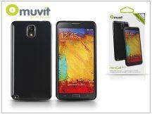 Samsung N9000 Galaxy Note 3 hátlap - Muvit miniGel Glazy - black