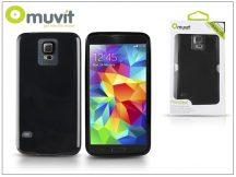 Samsung SM-G900 Galaxy S5 hátlap - Muvit miniGel - black
