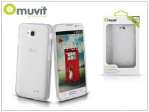LG L70 D320N/L65 D280 hátlap - Muvit miniGel - smoke white