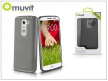 LG G2 Mini D620/D618 hátlap - Muvit miniGel -  smoke black
