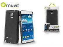 Samsung SM-N910 Galaxy Note 4 hátlap - Muvit miniGel - black