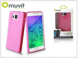 Samsung SM-G850 Galaxy Alpha hátlap - Muvit miniGel - pink