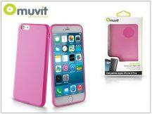 Apple iPhone 6 Plus/6S Plus hátlap - Muvit miniGel - pink