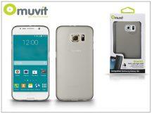 Samsung SM-G920 Galaxy S6 hátlap - Muvit ThinGel - smoke black