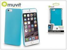 Apple iPhone 6/6S szilikon hátlap - Muvit Ultra Thin 0,35 mm - blue