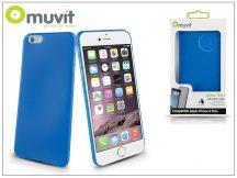 Apple iPhone 6 Plus szilikon hátlap - Muvit Ultra Thin 0,35 mm - blue
