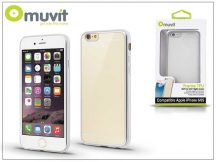 Apple iPhone 6/6S hátlap - Muvit Frame TPU - clear/silver