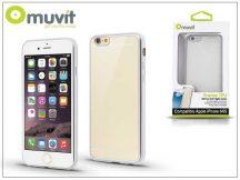 Apple iPhone 6/6S hátlap - Muvit Frame TPU - clear/silver