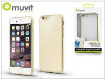 Apple iPhone 6/6S hátlap - Muvit Frame TPU - clear/gold
