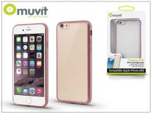 Apple iPhone 6/6S hátlap - Muvit Frame TPU - clear/pink