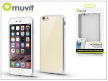 Apple iPhone 6 Plus/6S Plus hátlap - Muvit Frame TPU  - clear/silver