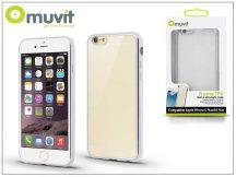 Apple iPhone 6 Plus/6S Plus hátlap - Muvit Frame TPU  - clear/silver
