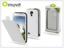 Samsung i9500 Galaxy S4 flipes tok képernyővédő fóliával - Muvit Slim - white