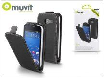 Samsung S7390 Galaxy Fresh flipes tok - Muvit Slim - black